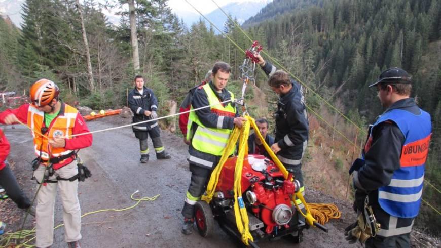 Einsatzübung mit der Feuerwehr Vandans