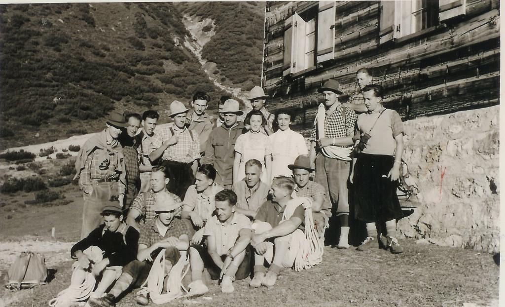 1956 - Bergrettungskurs auf der Heinrich-Hueter Hütte